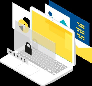 Laptop with save login