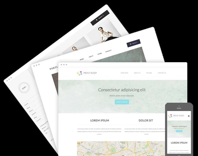 Unsere Homepagebaukasten Produkte